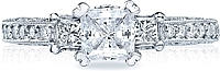 Tacori Engagement Ring with Princess and Round Diamonds