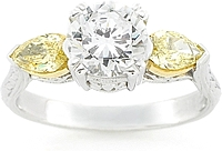 Tacori Fancy Yellow Diamond Engagement Ring