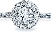 Tacori Floral Diamond Engagement Ring