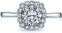 Tacori Full Bloom Diamond Halo Engagement Ring