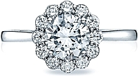 Tacori Full Bloom Round Diamond Halo Engagement Ring