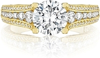 Tacori Gold Channel-Set & Pave Diamond Engagement Ring