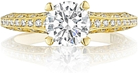 Tacori Gold Pave Diamond Engagement Ring