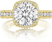 Tacori Gold RoyalT Halo Diamond Engagement Ring