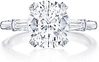 Tacori Halo Engagement Ring w/ Pave Set Diamonds