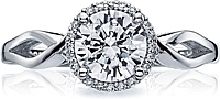 Tacori Halo Twist Shank Diamond Engagement Ring