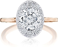 Tacori Inflori Diamond Engagement Ring