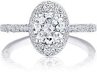 Tacori Inflori Halo Diamond Engagement Ring