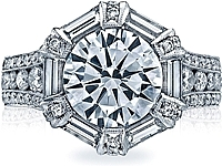 Tacori 'King' RoyalT Diamond Engagement Ring