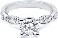 Tacori Marquise-Shaped Pave Diamond Engagement Ring