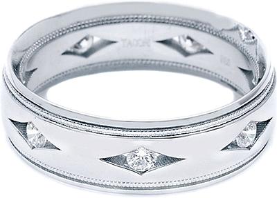 tacori men s diamond wedding band 7 0mm 877wd - Tacori Wedding Rings