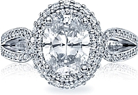 Tacori Oval Diamond Halo Engagement Ring