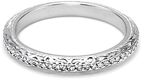 Tacori Pave Diamond & Hand Engraved Wedding Band