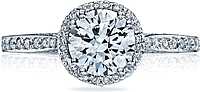 Tacori Pave Diamond Engagement Ring w/ Halo