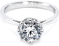 Tacori Pave Diamond Halo Engagement Ring