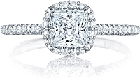 Tacori Pave Diamond Princess Cut Engagement Ring