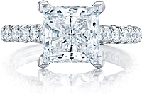 Tacori Pave Princess Cut Diamond Engagement Ring