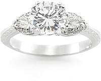 Tacori Pear Shape Diamond Engagement Ring