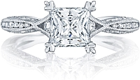 Tacori Petite Criss-Cross Channel-Set & Pave Diamond Engagement Ring