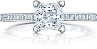 Tacori Princess Cut Channel-set Diamond Engagement Ring