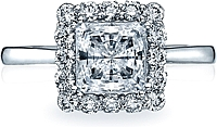 Tacori Princess Cut Full Bloom Diamond Halo Engagement Ring