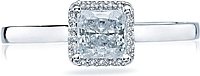 Tacori Princess Cut Halo Diamond Engagement Ring