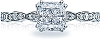 Tacori Princess Cut Pave Diamond Engagement Ring