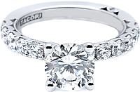 Tacori Prong-Set Round Brilliant Diamond Engagement Ring