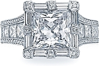 Tacori 'Queen' RoyalT Princess Cut Diamond Engagement Ring