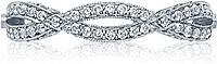 Tacori Ribbon Twist Pave Diamond Band