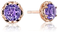 Tacori Rose Amethyst Earrings