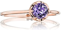 Tacori Rose Gold Amethyst Ring
