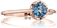 Tacori Rose Gold London Blue Topaz Ring