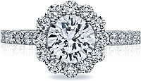 Tacori Round Blooming Halo Diamond Engagement Ring
