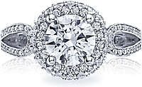 Tacori Round Diamond Halo Engagement Ring