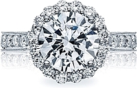 Tacori RoyalT Pave Diamond Halo Engagement Ring