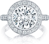 Tacori RoyalT Round Brilliant Cut Diamond Engagement Ring