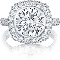 Tacori RoyalT Round Brilliant Cut Halo Diamond Engagement Ring