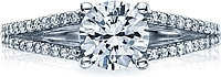 Tacori Split Shank Pave Diamond Engagement Ring