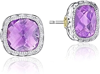 Tacori Sterling Silver Amethyst Earrings