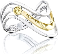 Tacori Sterling Silver & Yellow Gold Triple Wave Ring