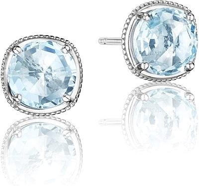 b254cb075de8d9 Tacori Sterling Silver Blue Topaz Earrings SE15402