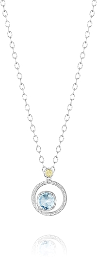 Tacori Sterling Silver Blue Topaz Necklace