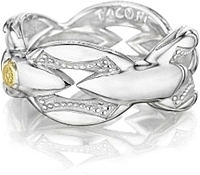 Tacori Sterling Silver Bold Crescent Link Ring
