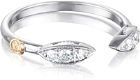 Tacori Sterling Silver Diamond Marquise Ring