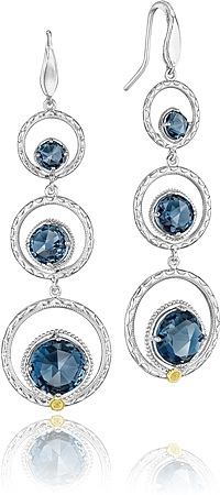 Tacori Sterling Silver London Blue Topaz Earrings