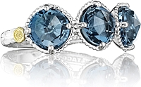 Tacori Sterling Silver London Blue Topaz Ring