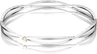 Tacori Sterling Silver Open Marquise Bangle