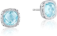 Tacori Sterling Silver Sky Blue Topaz Earrings