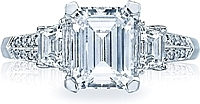 Tacori Trapezoid & Pave Diamond Engagement Ring